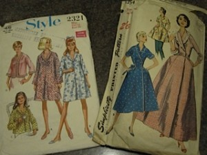 Housecoat patterns circa 1955 and 1968