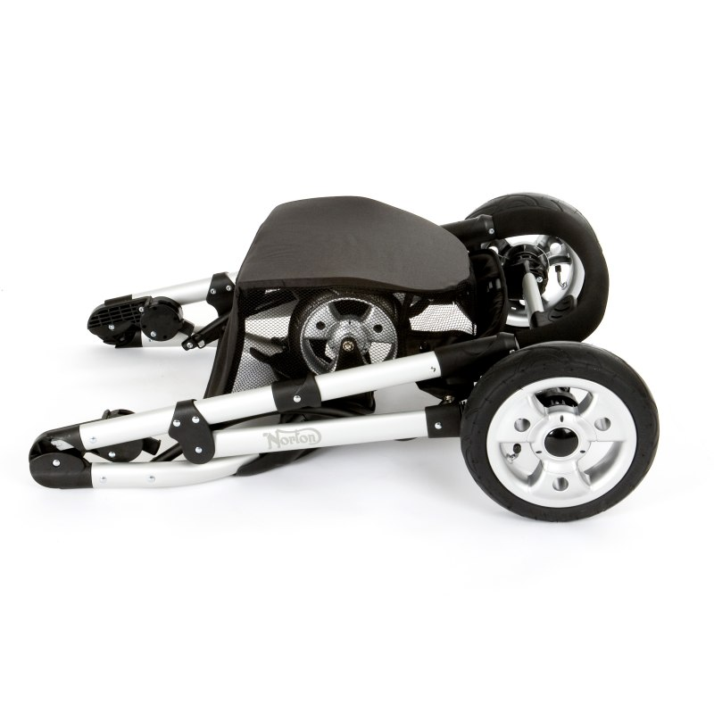 Norton Storm Pushchair. Folded down. Seat must be removed and is not shown.