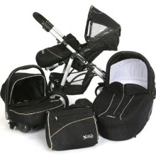 Norton Storm Pushchair with cot, car seat and nappy bag.