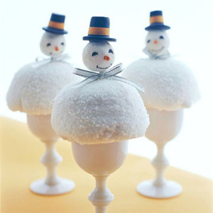 egg cup snowman to make for the kids