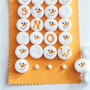 snowmen cupcakes to make with the kids