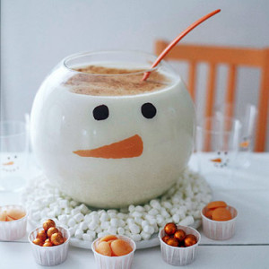 snowman eggnog to make with the kids