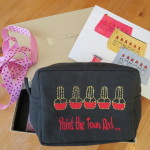 Paint the Town Red makeup bag