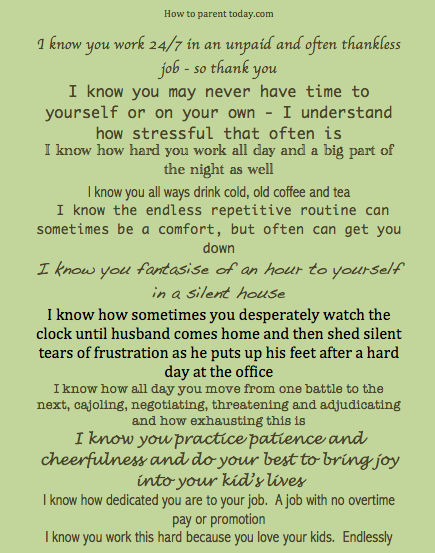 11 Things To Say To A Stay At Home Parent