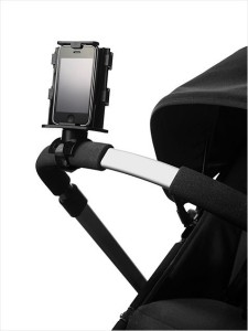 Phone holder for pusher pram