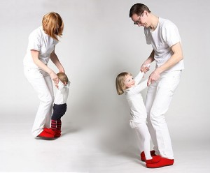 Dancing shoes for parent and child in one